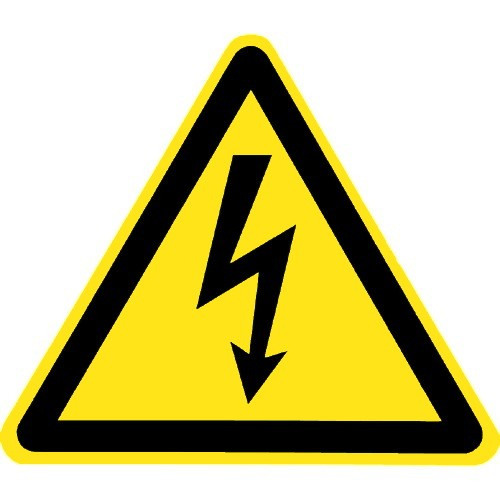 Warnung vor elektrischer Spannung - W012