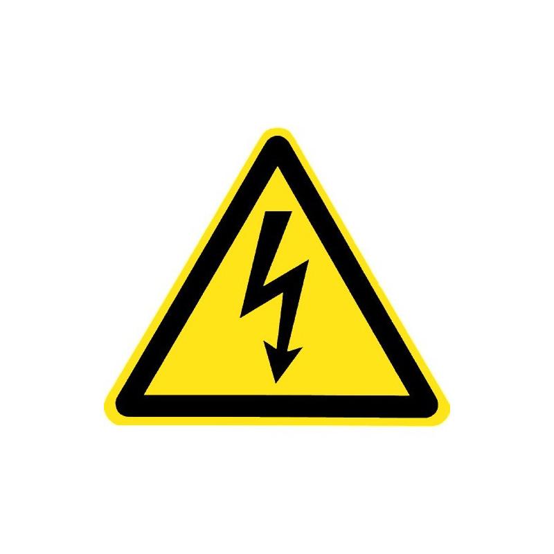 500 Aufkleber W012 Folie Warnzeichen 100 mm Warnung elektrische Spannung