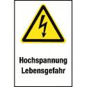 """Kombischild """"Hochspannung Lebensgefahr"""" - W012"""