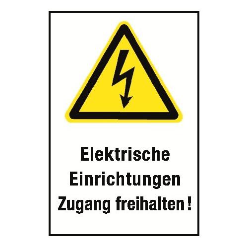 """Kombischild """"Elektrische Einrichtungen Zugang freihalten"""" - W012"""