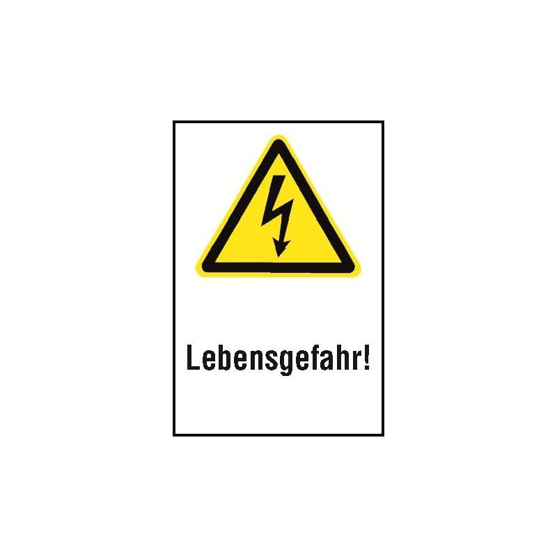 """Kombischild """"Lebensgefahr"""" - W012"""
