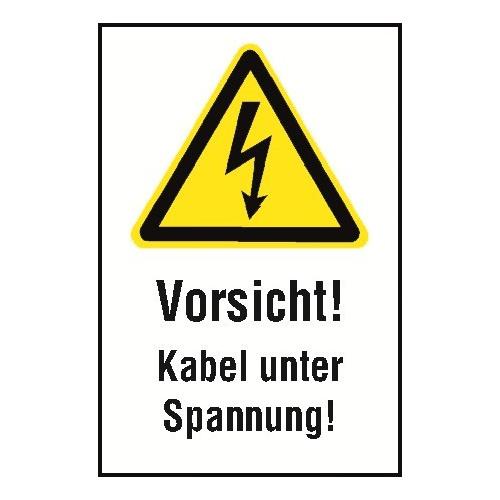 """Kombischild """"Vorsicht! Kabel unter Spannung"""" - W012"""