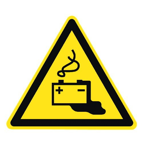 Warnung vor Gefahren durch das Aufladen von Batterien - W026