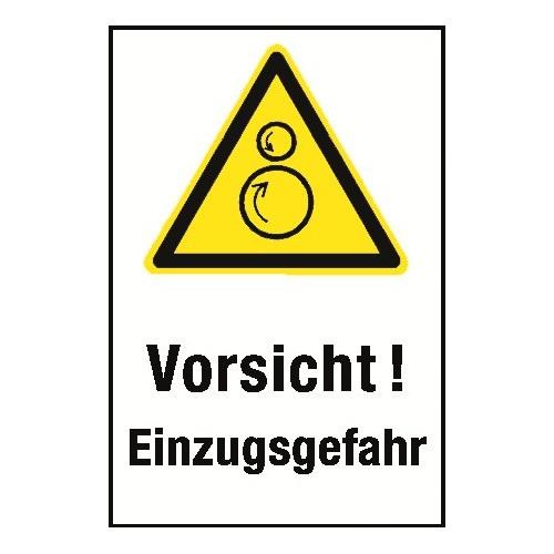 """Kombischild """"Vorsicht Einzugsgefahr"""" - W025"""
