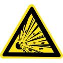Warnung vor explosionsgefährlichen Stoffen - W002
