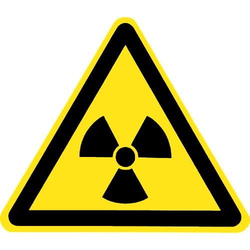 Warnung vor radioaktiven Stoffen oder ionisierender Strahlung - W003