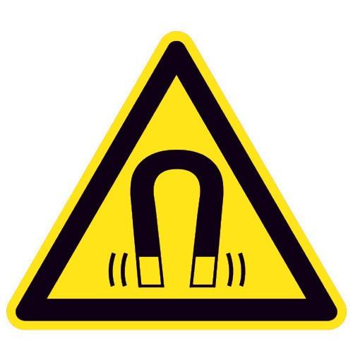 Warnung vor magnetischem Feld - W006