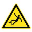 Warnung vor Absturzgefahr - W008