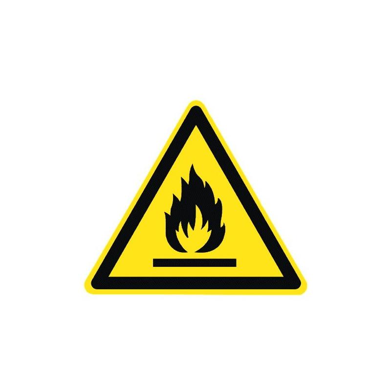 Warnung vor feuergefährlichen Stoffen - W021