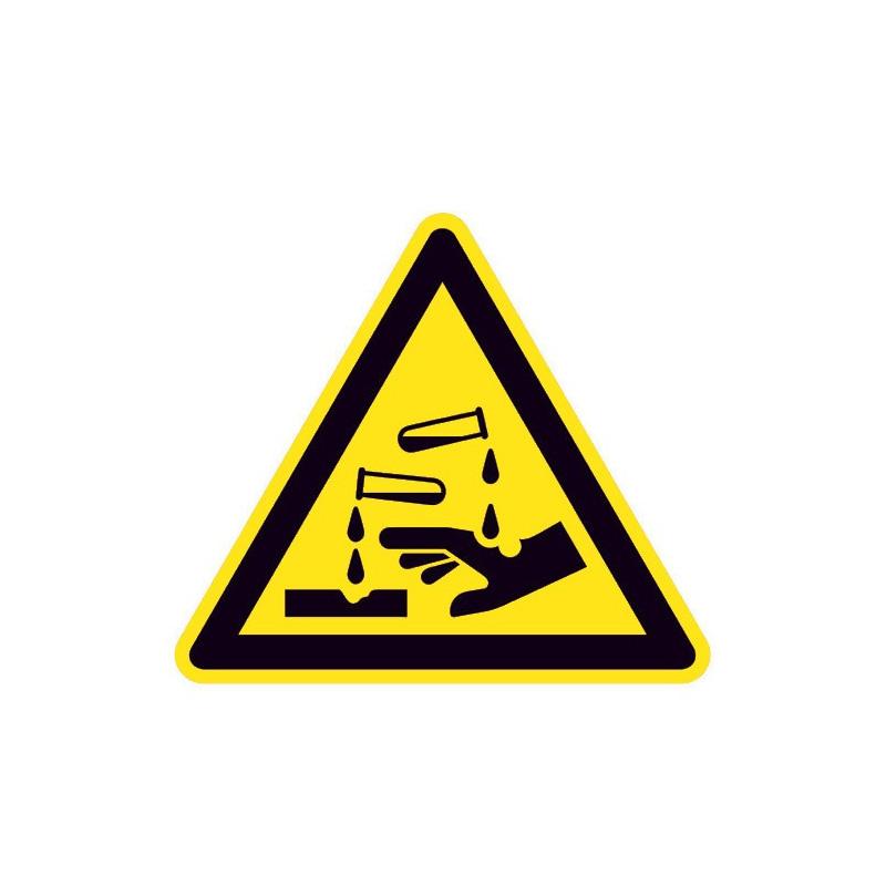 Warnung vor ätzenden Stoffen - W023