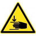 Warnung vor Handverletzungen - W024