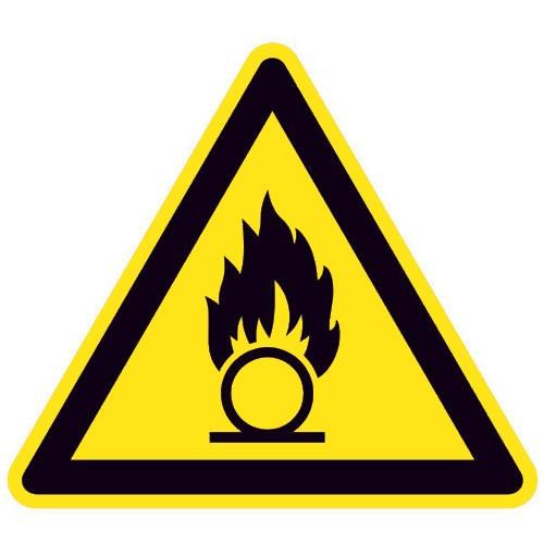 Warnung vor brandfördernden Stoffen - W028