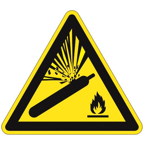 Warnung vor Gasflaschen - W029