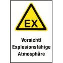 """Kombischild """"Vorsicht! Explosionsfähige Atmosphäre"""" - D-W021"""