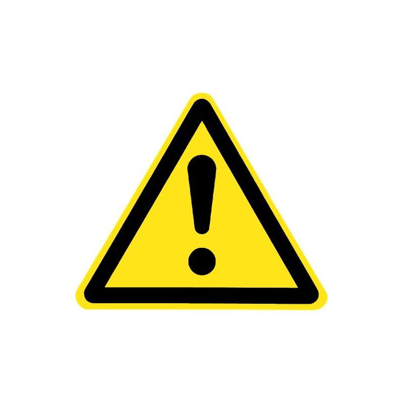 Allgemeines Warnzeichen (nur mit Zusatzzeichen) - W001