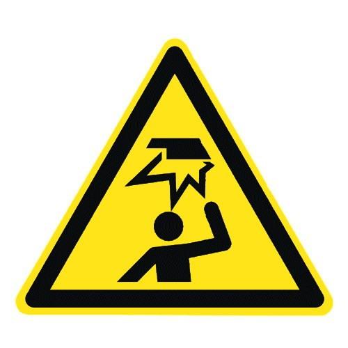Warnung vor Hindernissen im Kopfbereich - DIN EN ISO 7010 - W020
