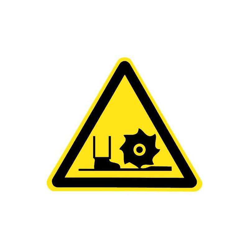 Warnung vor Fräswelle - DIN 4844-2 - D-W022