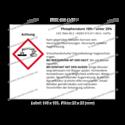 Phosphorsäure 10% – unter 25%, CAS 7664-38-2