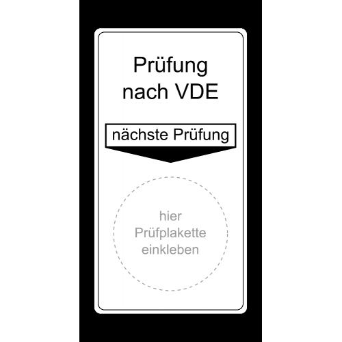 """Grundplakette """"Prüfung nach VDE, nächste Prüfung"""""""
