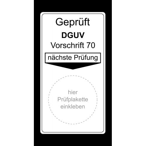 Geprüft DGUV Vorschrift 70, nächste Prüfung