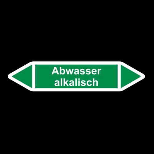 """Rohrleitungskennzeichnung """"Abwasser alkalisch"""""""