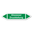 """Rohrleitungskennzeichnung """"Abwasser Druckleitung"""""""