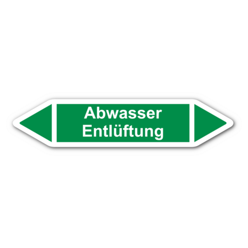 """Rohrleitungskennzeichnung """"Abwasser Entlüftung"""""""