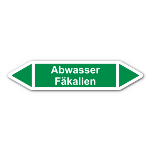 """Rohrleitungskennzeichnung """"Abwasser Fäkalien"""""""