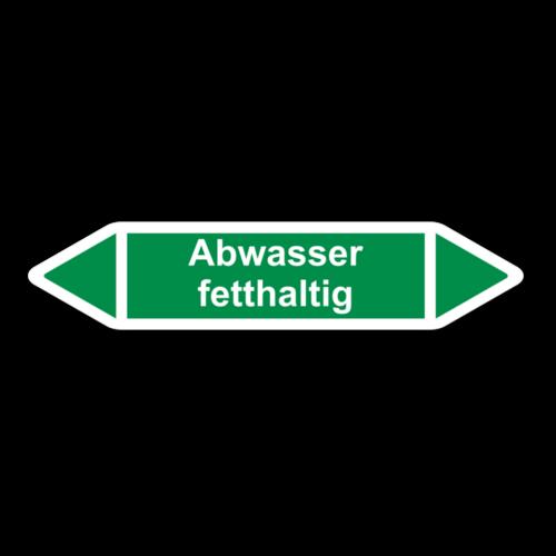 """Rohrleitungskennzeichnung """"Abwasser fetthaltig"""""""