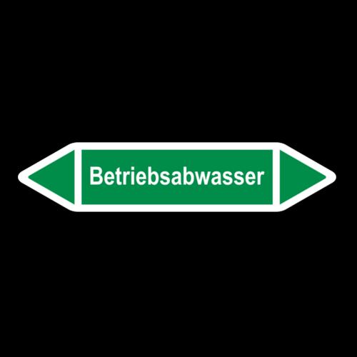 """Rohrleitungskennzeichnung """"Betriebsabwasser"""""""