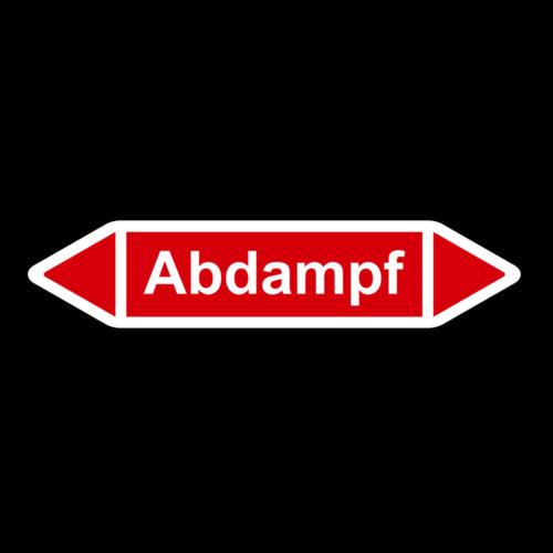 """Rohrleitungskennzeichnung """"Abdampf"""""""