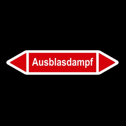 """Rohrleitungskennzeichnung """"Ausblasdampf"""""""