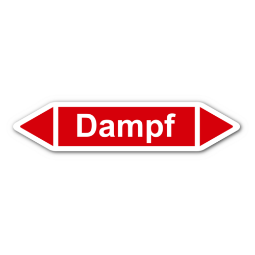 """Rohrleitungskennzeichnung """"Dampf"""""""