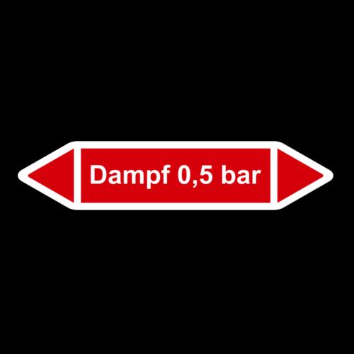 """Rohrleitungskennzeichnung """"Dampf 0,5 bar"""""""