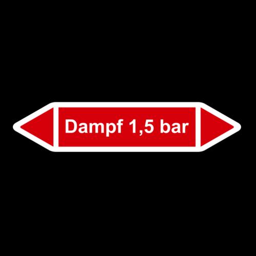 """Rohrleitungskennzeichnung """"Dampf 1,5 bar"""""""