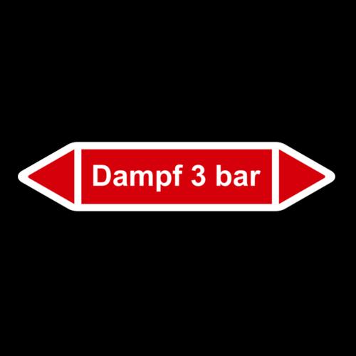 """Rohrleitungskennzeichnung """"Dampf 3 bar"""""""