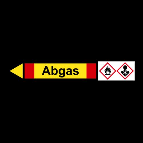 """Rohrleitungskennzeichnung """"Abgas"""""""