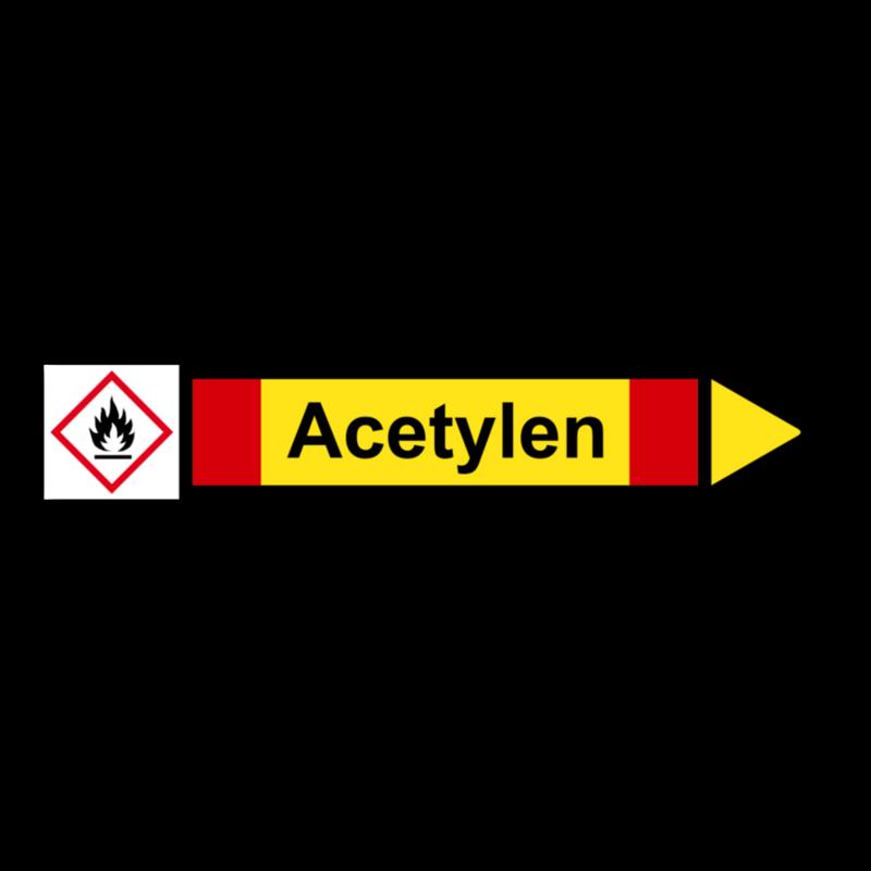 Rohrleitungskennzeichnung Aufkleber Etikett Argon DIN 2403 Nichtbrennbare Gase