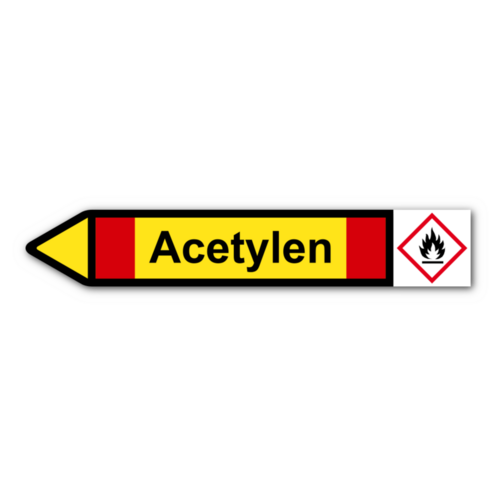 """Rohrleitungskennzeichnung """"Acetylen"""""""
