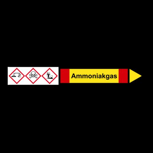 """Rohrleitungskennzeichnung """"Ammoniakgas"""""""