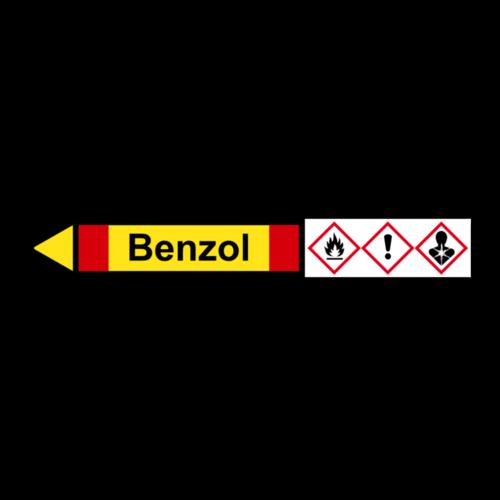 """Rohrleitungskennzeichnung """"Benzol"""""""