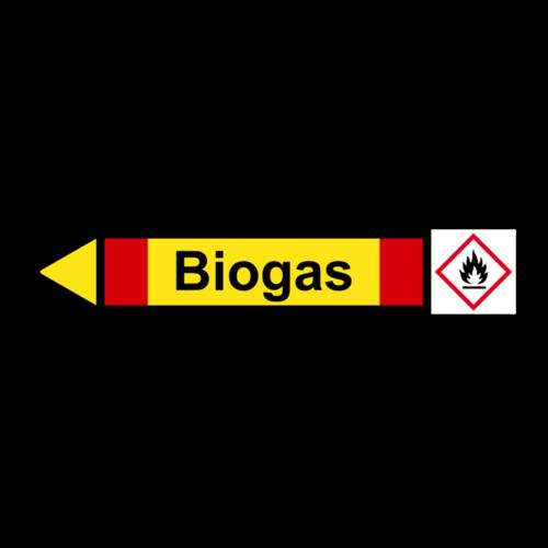 """Rohrleitungskennzeichnung """"Biogas"""""""