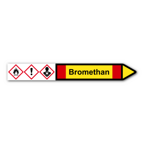 """Rohrleitungskennzeichnung """"Bromethan"""""""