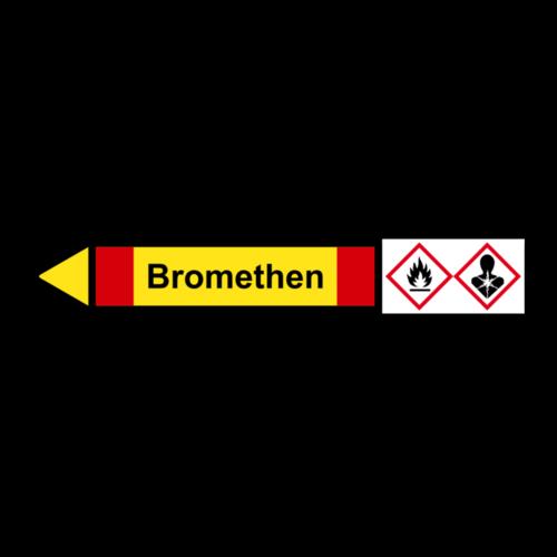 """Rohrleitungskennzeichnung """"Bromethen"""""""