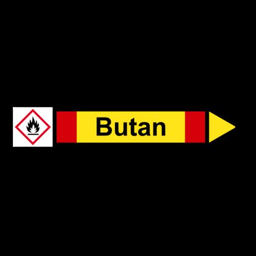 """Rohrleitungskennzeichnung """"Butan"""""""