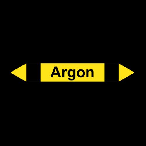 """Rohrleitungskennzeichnung """"Argon"""""""