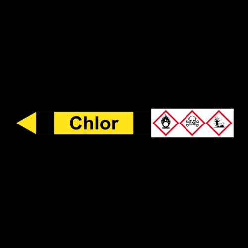 """Rohrleitungskennzeichnung """"Chlor"""""""