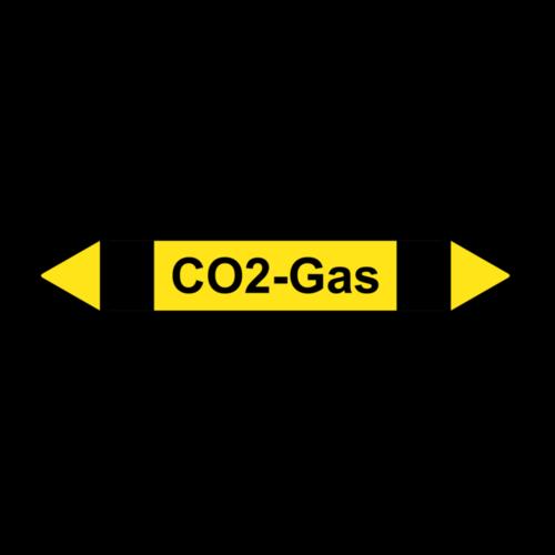 """Rohrleitungskennzeichnung """"CO2-Gas"""""""