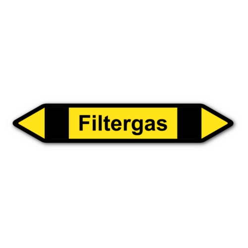 """Rohrleitungskennzeichnung """"Filtergas"""""""