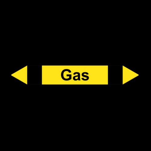 """Rohrleitungskennzeichnung """"Gas"""""""